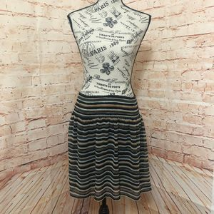 Old Navy Black/Brown Striped Skirt - XS